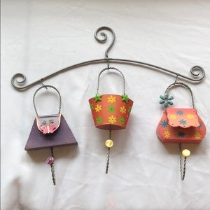 Handing purses decorative hooks